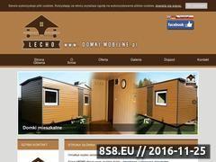 Miniaturka domeny www.przyczepy-domki-lecho.pl