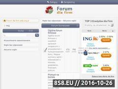 Miniaturka Forum dla firm: własny biznes i finansowanie rozwoju (www.psfp.org.pl)