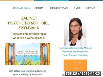 Zrzut strony Porady psychologiczne i psychoterapia