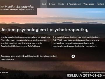 Zrzut strony Prywatna praktyka psychologiczna Moniki Biegasiewicz