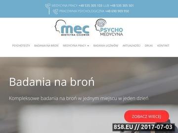 Zrzut strony Medycyna pracy fabryczna Białystok