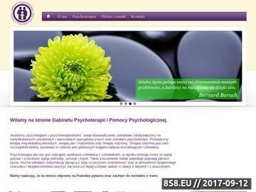 Zrzut strony Gabinet Psychoterapii i Pomocy Psychologicznej