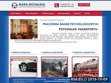 Zrzut strony Badania Psychologiczne Kierowców - Konin