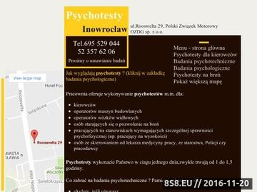 Zrzut strony Badania psychotechniczne