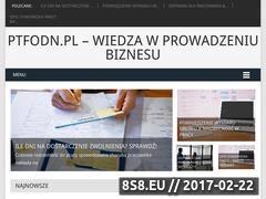 Miniaturka <strong>blog</strong> biznesowy (ptfodn.pl)
