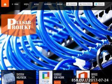 Zrzut strony Usługi informatyczne Kraków