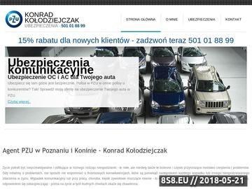 Zrzut strony Agent PZU Poznań