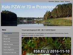 Miniaturka pzw70przasnysz.pl (PZW Przasnysz Koło nr 70)