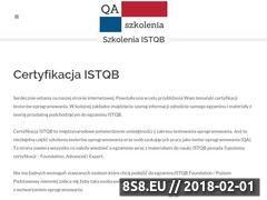 Miniaturka qa-szkolenia.pl (Informacje o egzaminach i szkoleniach ISTQB)