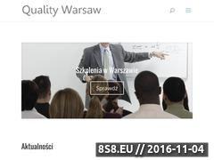 Miniaturka Wyszukiwarka szkoleń ISO 9001 w Warszawie (quality.waw.pl)
