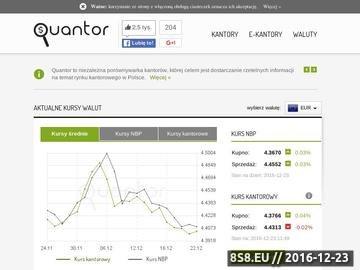 Zrzut strony Quantor - porównywarka kantorów wymiany walut - najtańsze kantory