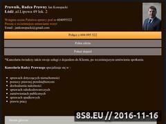 Miniaturka radcaprawnylodz.com.pl (Prowadzenie spraw sądowych i doradztwo prawne)