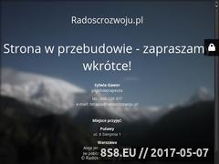 Miniaturka domeny www.radoscrozwoju.pl