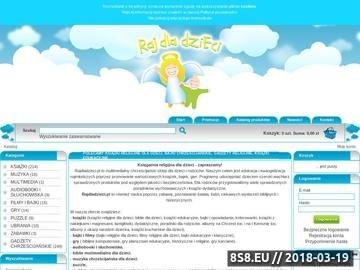 Zrzut strony Rajdladzieci.pl - multimedialny sklep dla dzieci