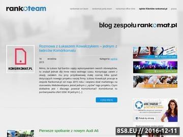 Zrzut strony Blog prezentujący pracowników rankomat.pl