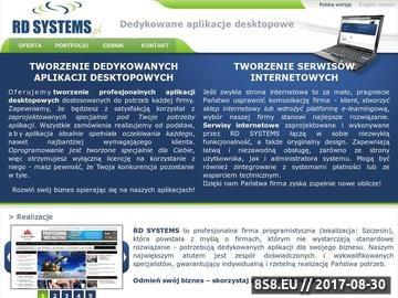Zrzut strony Projektowanie stron WWW Szczecin - RD SYSTEMS