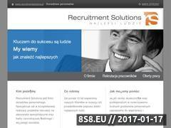 Miniaturka domeny www.recruitmentsolutions.pl