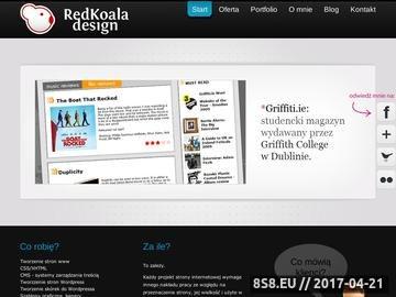 Zrzut strony RedKoala design Tworzenie stron Katowice Sklepy internetowe Grafika Logo