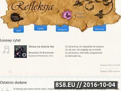 Miniaturka refleksja.info (Zbiór cytatów, aforyzmów, sentencji i piosenek)