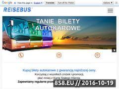 Miniaturka www.reisebus.pl (Tanie bilety autokarowe - Reisebus.pl)