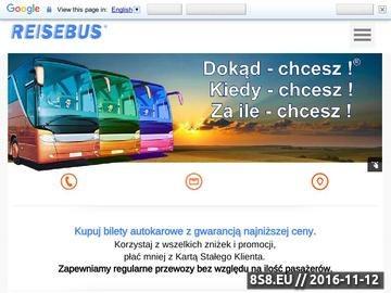 Zrzut strony Najtańsze bilety międzynarodowych linii autokarowych