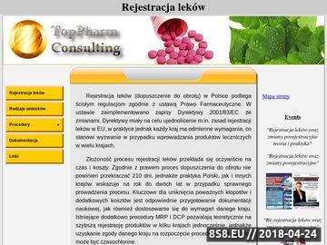 Zrzut strony Rejestracja leków - ogólne informacje i zasady