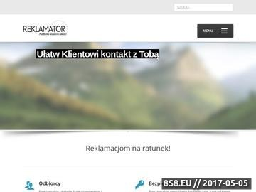 Zrzut strony Reklamator - Platforma Wsparcia Jakości