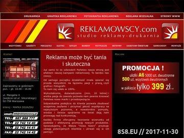 Zrzut strony Reklama wizualna, drukarnia cyfrowa wielkoformatowa, offsetowa