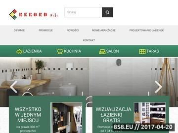 Zrzut strony Projektowanie łazienek - Rekord Sp.J.