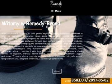 Zrzut strony Produkcja filmowa Szczecin Remedy-Brand