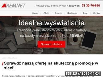 Zrzut strony Remnet Wrocław - pozycjonowanie i tworzenie stron