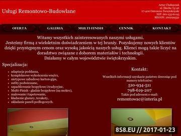 Zrzut strony Usługi Remontowe Remontowo-Budowlane - Ostrowiec Świętokrzyski
