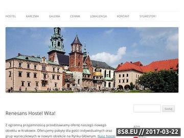 Zrzut strony RENESANS Hostel Kraków tanie noclegi w krakowie tani pokój