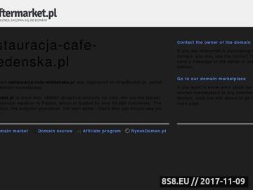 """Zrzut strony Restauracja """"Cafe Wiedeńska"""" J. W. Miś wita ..."""