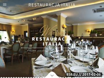 Zrzut strony Restauracja Italia Poznań