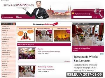 Zrzut strony Restauracje Poznań