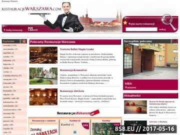 Zrzut strony Lokale gastronomiczne w Warszawie