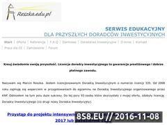 Miniaturka reszka.edu.pl (Kurs i egzamin dla doradców inwestycyjnych)