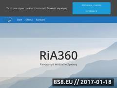Miniaturka ria360.pl (Panoramy sferyczne i wirtualne spacery)