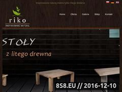 Miniaturka Firma oferuje stoły, szafy, regały oraz witryny (riko-meble.pl)