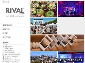 Zrzut strony Rival Group - imprezy integracyjne i wyjazdy motywacyjne dla firm