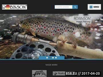 Zrzut strony Producent sprzętu wędkarskiego - Robinson