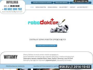 Zrzut strony Serwis i sklep robotów sprzątających iRobot, Roomba, Braava, Scooba