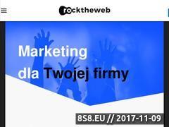 Miniaturka rocktheweb.pl (Agencja interaktywna i tworząca strony internetowe)
