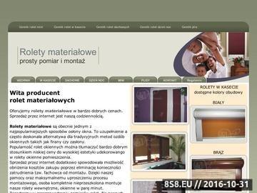 Zrzut strony Rolety materiałowe