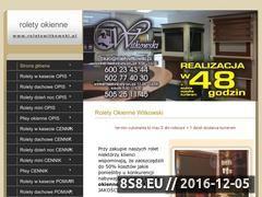 Miniaturka domeny www.roletywitkowski.pl