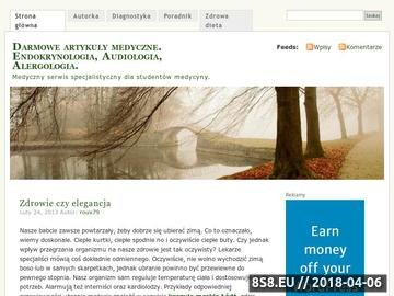 Zrzut strony Darmowe artykuły medyczne. Endokrynologia, Audiologia, Alergologia.