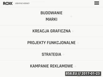 Zrzut strony Agencja interaktywna Kraków