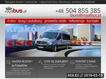 Zrzut strony Busy na wynajem w Krakowie - Royal Bus