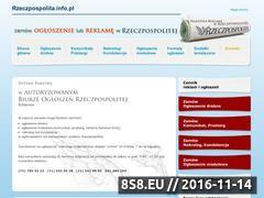 Miniaturka www.rzeczpospolita.info.pl (Biuro ogłoszeń rzeczpospolita)